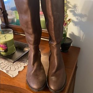 Michael Kors Brown Leather Riding Boots 5.5 EUC